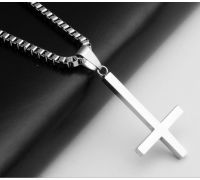 Кулон Перевёрнутый Крест [с цепочкой]