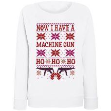 Женский свитшот Now I Have A Machine Gun (белый)