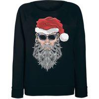 Женский свитшот Santa Beard (черный)
