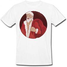 Футболка Buffed Santa Claus (белая)