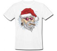 Футболка Smoking Brutal Santa Claus (белая)