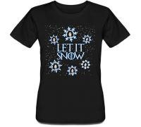 Женская футболка Game Of Thrones - Let It Snow (черная)