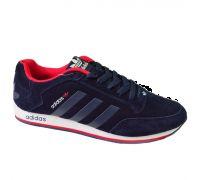 Кроссовки Adidas синие Blue 45 размер (реплика)
