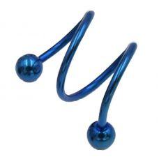 Спираль двойная на 2 дырки (синяя)