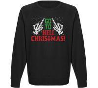 Мужской свитшот Go To Hell Christmas! (чёрный)