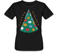 Женская футболка Christmasks (черная)