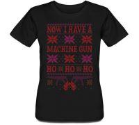 Женская футболка Now I Have A Machine Gun (черная)