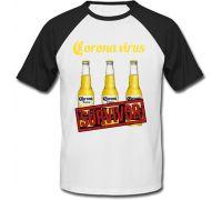 Футболка Beer Corona Extra (белая с черными рукавами)