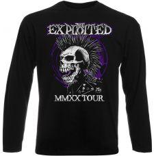 Футболка с длинным рукавом The Exploited - MMXX Tour (чёрная)