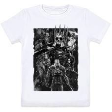 Детская футболка The Witcher 3 Wild Hunt (Ведьмак 3 Дикая Охота) (белая)