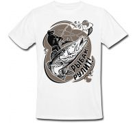 Мужская футболка Рыбак рулит (белая) XL