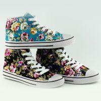 Кеды высокие с цветочками (цвет уточняйте)